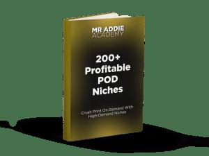 200+ Profitable Niches Book Cover Mockup